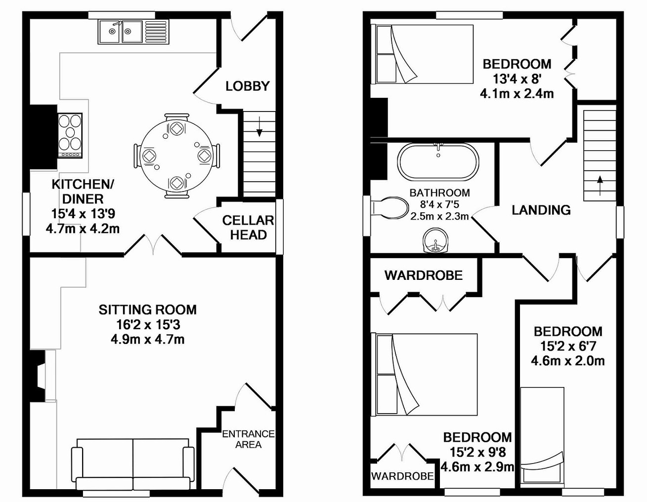 Professional Floor Plans From 50 Vat The Landlord Shop